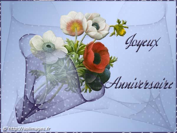 Cartes virtuelles bon anniversaire bouquet