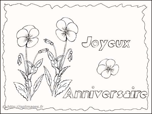 Coloriages cartes joyeux anniversaire - Dessin bon anniversaire ...