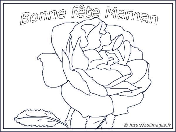 Coloriage204 coloriage bonne fete maman - Dessin bonne fete maman ...